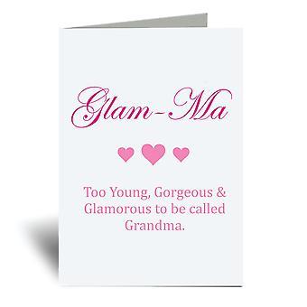 Tarjeta de felicitación Glam Ma A6