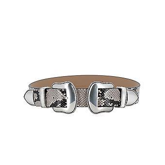 B-low Bæltet Bw362700le Women's Grey Leather Belt