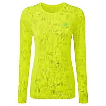 Ron Hill Womens Momentum Afterlight Long Sleeve Running Top