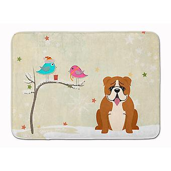 Christmas Presents between Friends English Bulldog Red White Machine Washable Me