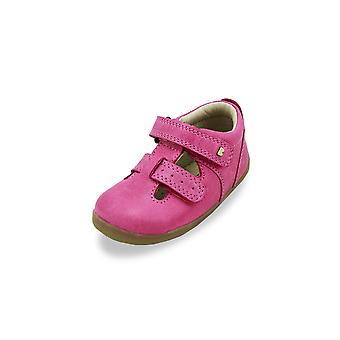 Bobux step up jack and jill pink shoes