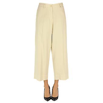 Barena Venezia Ezgl135013 Women's Beige Cotton Pants