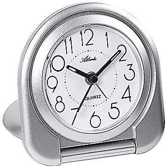 Atlanta 1909/19 Herätyskello matkustaa herätyskello taitto herätyskello kvartsi analoginen hopea