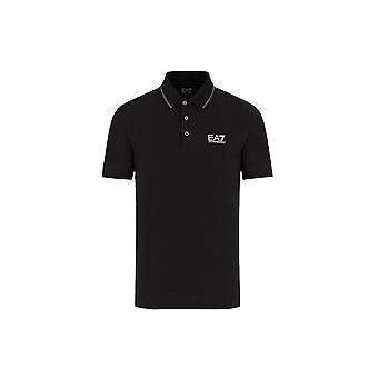 EA7 Emporio Armani Men's Black Polo Shirt