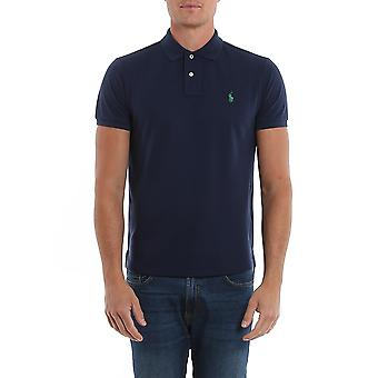 Ralph Lauren Ezcr012011 Men's Blue Cotton Polo Shirt