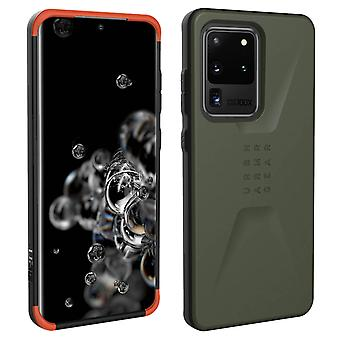 Bi-material Hard Case for Samsung Galaxy S20 Ultra- UAG- Civilian Series- Green