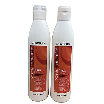 Matrix Total Results Sleek Lisse Shampooing et Revitalisant Set Frizz Prone Hair 10.1 OZ