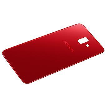Huisvesting deel terug cover, reserveonderdeel voor Samsung Galaxy J6 plus-rood