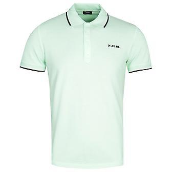 Diesel T-Randy Broken Logo Lime Green Polo Shirt