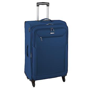 d&n Línea de viaje 6804 Carro L, 4 ruedas, 76 cm, 98 L, Azul