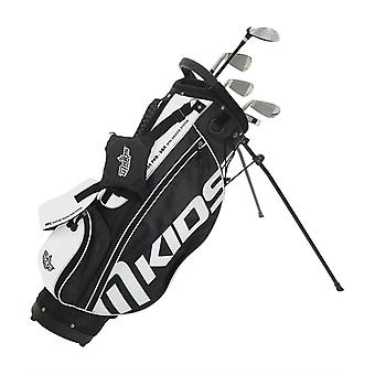 MKids Pro Junior Kids Golf Bag and Clubs Half Set Right Hand Black 12-14 Years