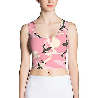 Fitted Crop Top | Pink Camouflage