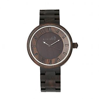 De la tierra rama de madera reloj de pulsera - marrón oscuro
