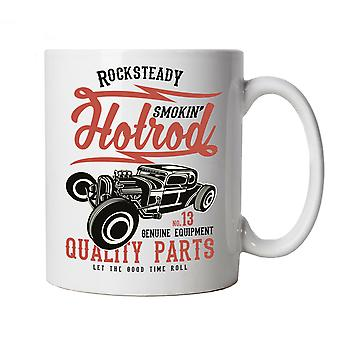 Smokin Hot Rod, Mug - Classic Muscle Cars Custom Roadsters Cup Gift Him Her