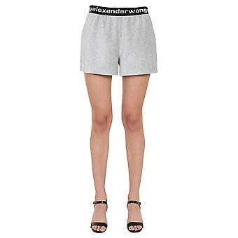 Alexander Wang.t 4cc1204025030 Dames's Grey Cotton Shorts