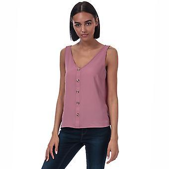 Vrouwen's Vero Moda Sasha Button Top in Pink