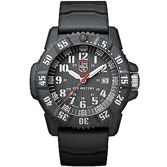 Luminox Carbon Seal Quartz Black Dial Rubber Strap Men's Watch XS.3801
