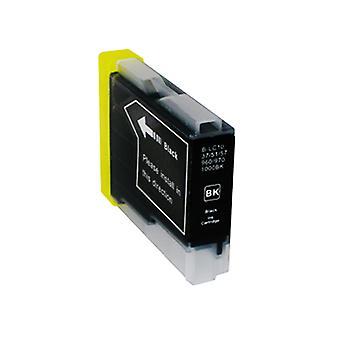 RudyTwos 用ブラザー LC-970BK/1000BK インク カートリッジ ブラック DCP-130 C、DCP-135 C、DCP-150 C、DCP-153 C、DCP-155 C、DCP-157 C、DCP-260 C、DCP-330 C、DCP-350 C、DCP-353 C、DCP-357 C, DCP-3 との互換性