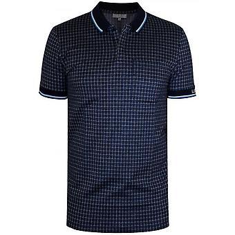 Lanvin Check Piquí© Navy Polo Shirt