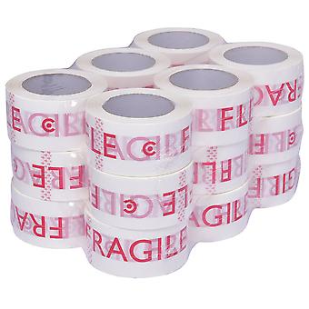 18 Rolls Printed Strong Paking Parcel Pakage Tape 66mm*55mic*100m