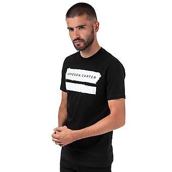 Men's Jameson Carter Paint Stripe Crew T-Shirt in Black