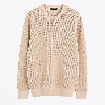 Scotch & Soda  - Structured Knitted Sweater - Beige
