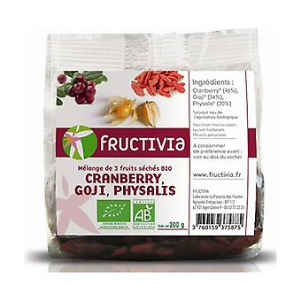 Mix 3 Fruits (Cranberries, Goji, Physalis) BIO 200 g