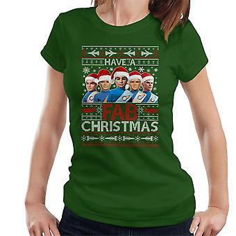 Thunderbirds team har en fabelagtig jul kvinder ' s T-shirt