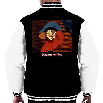An American Tail Fievel Angry Men's Varsity Jacket
