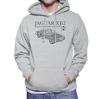 Haynes Owners Workshop Manual 0242 Jaguar XJ12 Black Men's Hooded Sweatshirt