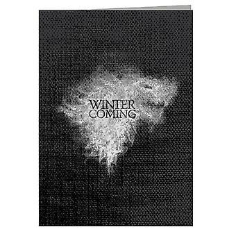 Winter Is Coming Direwolf Sigil Smoke Game Of Thrones Greeting Card