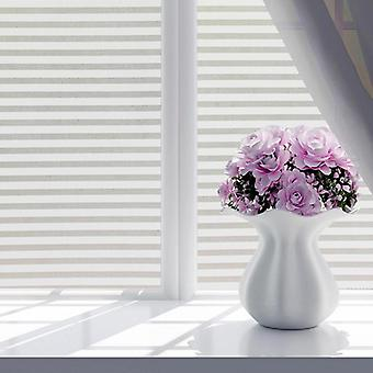 Fashion Self Adhesive Window Film Frosted - White Stripe Glass, Sliding Door,