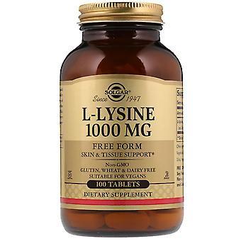 Solgar, L-Lysin, Freiform, 1.000 mg, 100 Tabletten