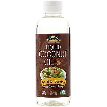 Nu Foods, Ellyndale Naturals, Vloeibare kokosolie, pure kokossmaak, 16 fl oz