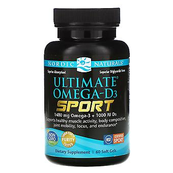 Nordic Naturals, Ultimate Omega-D3 Sport, 1.000 mg, 60 Soft Gels