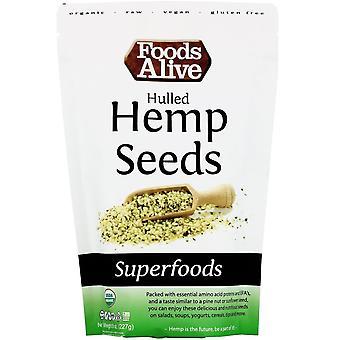 Foods Alive, Superfoods, Hulled Hemp Seeds, 8 oz (227 g)