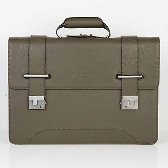 Olive Green Richmond Leather 2 Compartment Flapover Briefcase