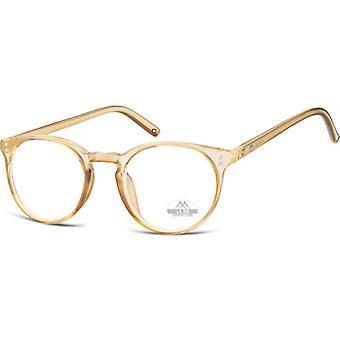Lesebrille Unisex  HMR55 gold/transparente Stärke +3,00
