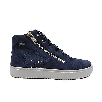 Superfit Heaven 006499-80 Navy Suede Leather Girls Sneaker Boots