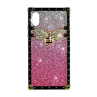 Funda de teléfono Eye-Trunk Bee GG para iPhone XR (Hot Pink)