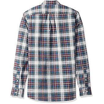 Brand - Goodthreads Men's Standard-Fit Long-Sleeve Plaid Oxford Shirt,...