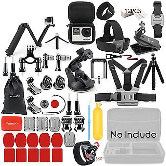 Gopro Accessories Set for Go Pro Hero 8 7 6 5 4 Kit 3 Way Selfie Stick for Eken H8r Xiaomi Yi EVA Case VS77