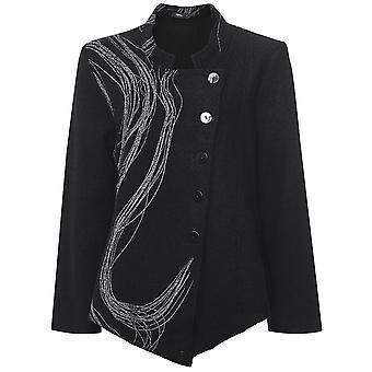 Veste tourbillon asymétrique en laine Ralston Totta