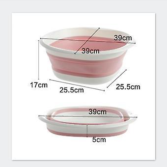 Plástico cuencas plegables portable lava ropa bañera baño Accesorios de cocina Viaje dos modelos