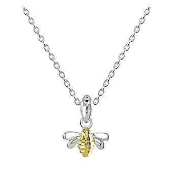 Dew Sterling Silver Dinky Bee Gold Plate Pendant 9465GD
