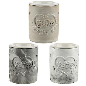 Concrete Love Heart Oil Burner X 1 Pack
