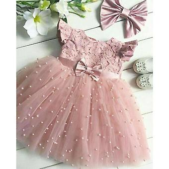 2-7 Years Toddler Kid Girl Princess Dress- Lace Tulle Wedding Birthday Party Tutu Dress Pageant Children Clothing Kid Costumes