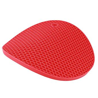 5 x Rose Red Silicone Nonslip Mat Heat Pad Holder Coaster Tea Cup Bowl Placemat