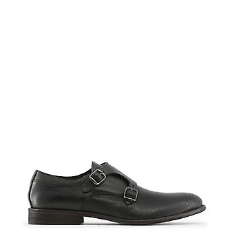 Made in italia men's double buckles leather shoes