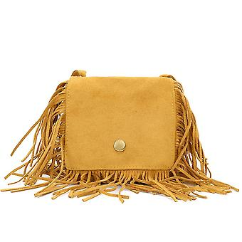 Tassel Messenger Bag Kid Geantă de mână Monedă Pungă Umăr Bag Fringed Mini Cross